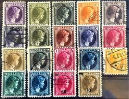 LUXEMBOURG 1926/39 - Sc# 159-162, 164, 166, 169, 170, 173, 174, 175, 178-182, 185, 189, 191 - Gebraucht
