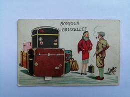 BONJOUR DE BRUXELLES - CARTE A SYSTEME - Viste Panoramiche, Panorama