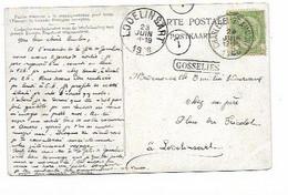 SH 0937. N° 56 Càd Ambt CHARLEROI-GRAMMONT 23 JUIN 1906 + GRIFFE Encadrée GOSSELIES S/CP V. Lodelinsart. TB Et RARE - Ambulants