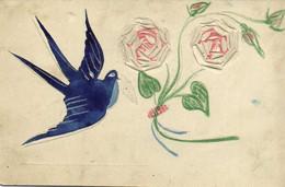 Carte Unique Ajoutis Hirondelle Roses   RV - Other