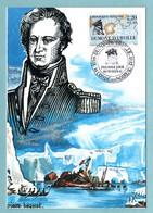 Carte Maximum 1988 - Les Grands Navigateurs - Jules Dumont D'Urville - YT 2522 - 14 Condé-sur-Noireau - 1980-89