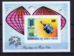 Upper Volta Space 1974 Centenary Of UPU Nice Sheet Imperf - Upper Volta (1958-1984)