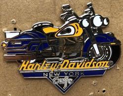 MOTO - HARLEY DAVIDSON - JAUNE ET BLEUE - NEW-YORK CAFE - EGF - 5cm / 4cm - YELLOW AND BLAU - HD  -   (JAUNE) - Motorfietsen