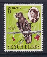 British Indian Territory (BIOT): 1968   QE II - Pictorial 'B.I.O.T.' OVPT   SG1    5c   MH - Territoire Britannique De L'Océan Indien