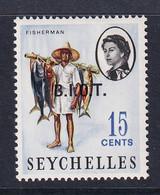 British Indian Territory (BIOT): 1968   QE II - Pictorial 'B.I.O.T.' OVPT   SG3    15c   MH - British Indian Ocean Territory (BIOT)
