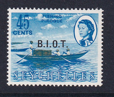 British Indian Territory (BIOT): 1968   QE II - Pictorial 'B.I.O.T.' OVPT   SG7    45c   MH - Territoire Britannique De L'Océan Indien