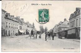 Cpa  GAILLON - Route De Paris . (Animation + Commerces). - Non Classés