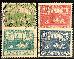 CZECHOSLOVAKIA 1918/19 - Canceled - Sc# 13-16 - Oblitérés