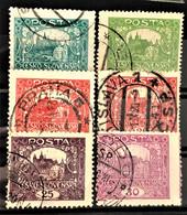 CZECHOSLOVAKIA 1919/20 - Canceled - Sc# 42-47 - Oblitérés