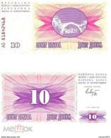 10 Pieces Bosnia And Herzegovina - 10 Dinars 1992 UNC - Bosnia Erzegovina