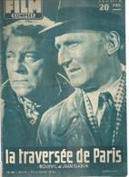 """FILM COMPLET  N° 592 - 1956  """" LA TRAVERSEE DE PARIS """" BOURVIL / JEAN GABIN / LOUIS DE FUNES - Dos: ANNE BANCROFT - Cinema"""