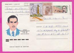 264145 / Cuba Kuba Stationery 1987 - 5c ( José Martí Poet ) +5+20 C, Hutia Rodents , Lighthouse Faro Paredón Grande - Other