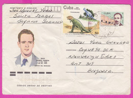 264146 / Cuba Kuba Stationery 1988 - 5c ( José Martí Poet ) +50 C. Tyrannosaurus Dinosaur , Raul Gomes Garcia - Other