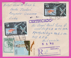 264153 / Cuba Kuba Registered Cover 1988 - 30+30+3+2 C. Lighthouse Cuban Parakeet Birds Stamps On Stamps Space - Other