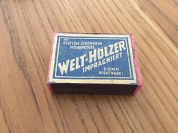 """Ancienne Boîte D'allumettes * Allemagne """"WELT-HOLZER N°103"""" Type 2 En Bois - Matchboxes"""