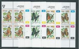 Venda 1990 Butterflies, Set Of 4 Control Blocks, MNH ** - Venda