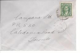 19618) Canada Vinsulla Postmark Cancel 1939 Closed Post Office - Brieven En Documenten