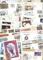 Andorre Vrac 90 Carte Maximum CM Et Enveloppe 1er Premier Jour FDC First Day Cover Cachets Ou Flammes Illustrés - FDC