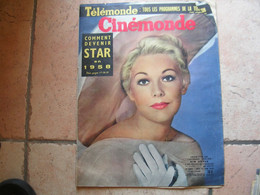 CINEMONDE N° 1244 ( JUIN - 1958 )  KIM NOVAK / FERNANDEL / LOUIS DE FUNES /  BRIGITTE BARDOT - Cinema