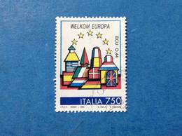 1993 ITALIA FRANCOBOLLO USATO ITALY STAMP USED BENVENUTA EUROPA UNITA PAESI BASSI - 1991-00: Oblitérés