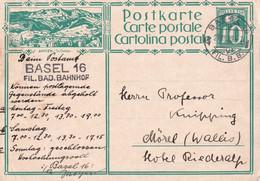 SUISSE  1929   ENTIER POSTAL/GANZSACHE/POSTAL STATIONERY CARTE ILLUSTREE DE BASEL - Interi Postali