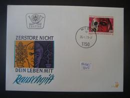 Österreich FDC 1973- Sonder-Beleg Drogenmissbrauch MiNr. 1411 - FDC