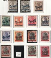 DANTZIG - N°21/32+34+35 */obl (1920) Surchargés - Danzig