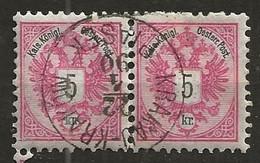 Timbre Autriche Belle Obliteration 1890 Krakau Krakow - Usados
