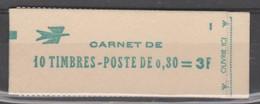 FRANCE CARNET FERME DE 10 TIMBRES CHEFFER 0,30 LILAS - 1536 C1 - DATE 02/10/68 - Freimarke