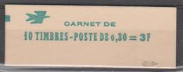 FRANCE CARNET FERME DE 10 TIMBRES CHEFFER 0,30 LILAS - 1536 C2 - SIGNE CALVES - Freimarke