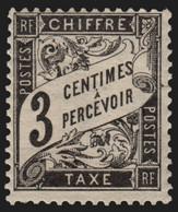 Timbres-Taxe Duval N°12, 3c Noir, Neuf * Avec Légère Trace De Charnière - TB - 1859-1955 Nuovi