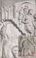 ARCHAEOLOGY, TRAJAN'S COLUMN DETAIL, DACIAN- ROMAN WARS, CM, MAXICARD, CARTES MAXIMUM, 1978, ROMANIA - Archéologie