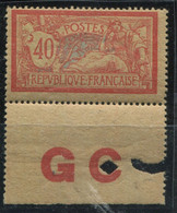 """FRANCE - N° 119 AVEC MANCHETTE """" GC """" , 1 ére. CHARNIÈRE - BON CENTRAGE & TRES FRAIS - TB - 1900-27 Merson"""