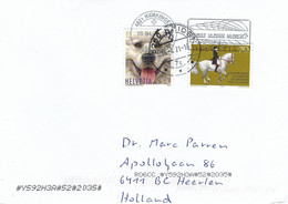 Switzerland 2021 Reiden Dog Horse Dressage Cover - Dogs
