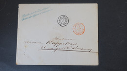 Lettre En Franchise Juin 1850 Griffe President De La Republique Service Des Officiers D'Ordonnance - 1849-1876: Klassieke Periode