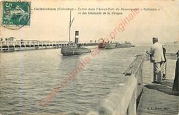 """14.  OUISTREHAM .  Entré Dans L'Avant-Port Du Remorqueur """"Calvados"""" Et Des Chalands De La Drague . - Ouistreham"""