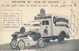 Souvenir Du Tour De France 1935 La Plus Petite Voiture Automobile Du Monde - Carte Publicitaire La Quintonine - Pubblicitari