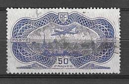 """France Poste Aérienne YT N° 15 """"burelé"""" Oblitéré. B/TB. A Saisir! - 1927-1959 Used"""
