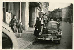 ARLON - Photo Rue De Faubourgs 1954 - 9 X 6 - Renault 4CV - Arlon