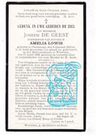 DP Joseph De Geest ° Serskamp 1810 † Wichelen 1892 X Amelia Lowie - Devotion Images