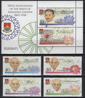 Kiribati 2019, 150th Anniversary Of The Brth Of Mahatma Gandhi, MNH S/S And Stamps Set - Kiribati (1979-...)