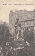 5878) WEIN XVII - J. Kainz Denkmal Im Türkenschanzpark  ALT ! HAUS Dahinter 08.01.1912 !! - Altri