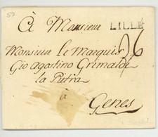 LILLE Pour Le Marquis De Grimaldi A Genes Genova 1772 - 1701-1800: Vorläufer XVIII