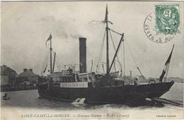 50  Saint  Vaast La Hougue    -  Bateau Nouveau Steamer  B.F.  1907 - Saint Vaast La Hougue