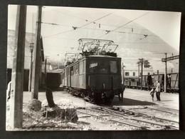 Photographie Originale Numérotée De J.BAZIN :  Locomotive Et Rame De St Georges -de-Commiers à LA MURE En 1962 - Trains