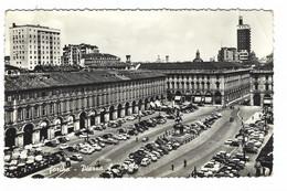 10.489 - TORINO PIAZZA S CARLO ANIMATISSIMA AUTO CAR 1956 - Piazze