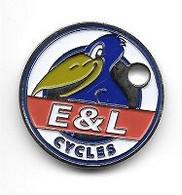 Jeton De Caddie  Néerlandais  Cyclisme  E & L  Cycles  Avec  Un  Animal  Corbeau  Recto  Verso - Jetons De Caddies