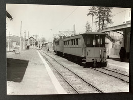 Photographie Originale De J.BAZIN Numérotée : Locomotive Et Rame En Gare De LA MURE En 1962 - Treinen