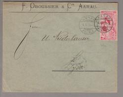 CH UPU 1900-12-04 Aarau Brief Nach Lyss Mit 10Rp. UPU Nachgrafiert Zu#78C - Covers & Documents