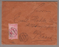 CH UPU 1900-12-05 Schönenwerd Brief Nach Basel Mit 10Rp. UPU Nachgrafiert Zu#78C - Covers & Documents